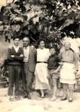 la famiglia Colacicchi con Duniascia