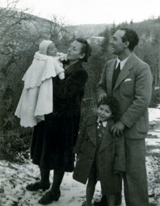 Flavia, Giovanni and family, at Vallombrosa during the War