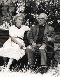Flavia and Giovanni in their garden, 1992