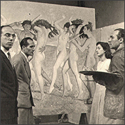 Painting Gambrinus Cinema Frieze