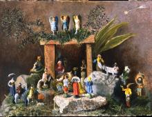 Presepe dipinto per Giovanni