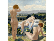Tre donne in una campagna