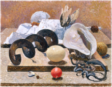 Natura Morta con la vite perpetua con uovo di struzzo